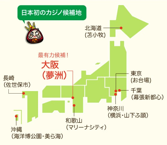 日本初のカジノ 場所